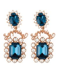 Mawi Blue 'sapphire Slogan' Earrings