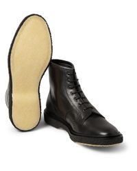 Adieu - Black Type 22 Crepe-Sole Leather Brogue Boots for Men - Lyst