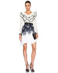 Rodarte - Blue Lace & Chiffon Ruffle Skirt - Lyst