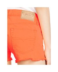 Polo Ralph Lauren - Orange Cutoff Denim Short - Lyst