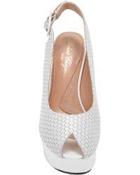 Robert Clergerie - White Bustyma Platform Wedge Sandals - Lyst
