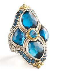 Konstantino - London Blue Topaz Figure-8 Ring - Lyst