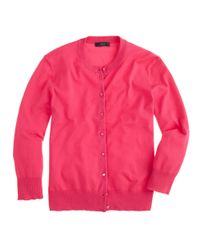 J.Crew - Pink Cotton Jackie Cardigan Sweater - Lyst