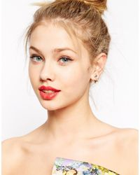 ASOS | Metallic Crystal Square Swing Earrings | Lyst