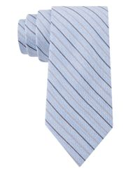 William Rast | Blue Silk Stripe Tie for Men | Lyst