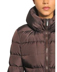 Add Purple Waterproof Hooded Long Down Jacket