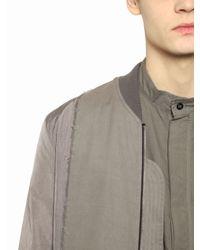 Silent - Damir Doma | Natural Nylon & Light Gabardine Bomber Jacket for Men | Lyst