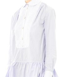 Thierry Colson - Blue Lizbeth Stripe Cotton Shirt Dress - Lyst