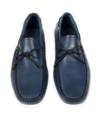 Tod's - Blue Laced Gommino Leather Driving Shoe for Men - Lyst