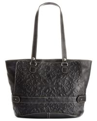 Patricia Nash | Black Tooled Lapila Computer Tote | Lyst