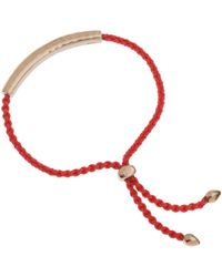 Monica Vinader | Red And Rose Gold Vermeil Esencia Friendship Bracelet | Lyst