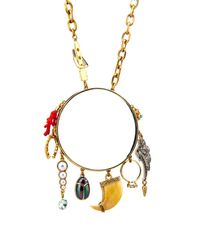 Lulu Frost | Metallic Traveller Multi-Charm Necklace | Lyst
