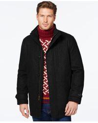 London Fog Black Wool-blend Car Coat for men