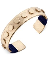 Lucky Brand Metallic Bracelet, Gold-tone Lapis Lego Cuff Bracelet