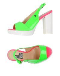 Love Moschino - Green Sandals - Lyst