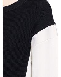 Chloé - Multicolor Colourblock Wool-cotton Sweater - Lyst