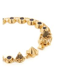 Eddie Borgo | Black Pavé Gemstone Swag Bracelet | Lyst