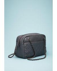 Lyst - Forever 21 Quilted Faux Leather Shoulder Bag in Black 8fc3c3d2ed154