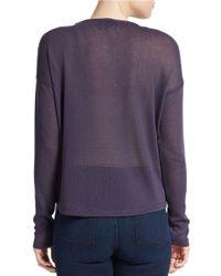 William Rast Blue Open Knit Sweater