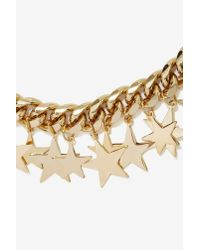 Nasty Gal - Metallic Star-Crossed Chain Necklace - Lyst