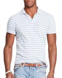 Ralph Lauren - Blue Polo Stripe Jersey Polo Shirt - Regular Fit for Men - Lyst