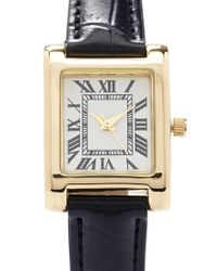 Forever 21 - Black Faux Leather Analog Watch - Lyst