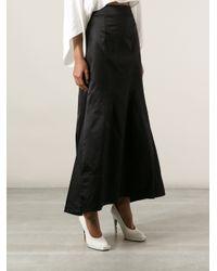 Jil Sander Black Aline Full Skirt
