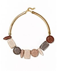 Lafayette 148 New York | Metallic Mica Stone-accented Collar Necklace | Lyst