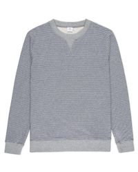 Sunspel | Gray Men's Loopback Cotton Sweatshirt With Printed Stripe for Men | Lyst