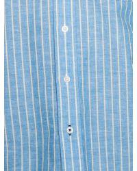 Raging Bull - Blue Stripe Long Sleeve Button Down Shirt for Men - Lyst