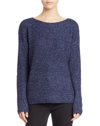 Lord & Taylor   Blue Textured Knit Sweater   Lyst