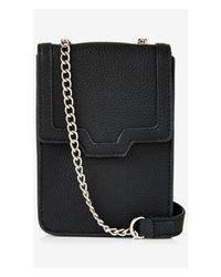 Express Black Rectangle Sling Shoulder Bag