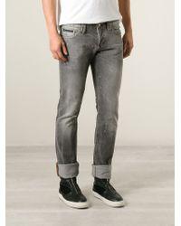 Philipp Plein - Gray Slim Fit Jeans for Men - Lyst
