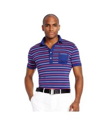 Ralph Lauren - Blue Slim-fit Polo Shirt for Men - Lyst