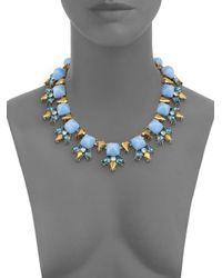 Cara - Blue Pyramid Cabochon Collar Necklace - Lyst