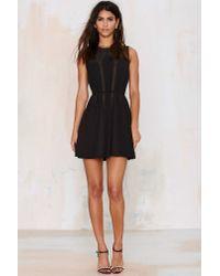 Nasty Gal - Black Nina Pleated Dress - Lyst