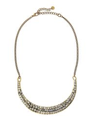 Lydell NYC | Metallic Pave Crystal Collar Necklace | Lyst