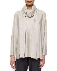 Eskandar - Gray Jersey Knit Long Scarf - Lyst