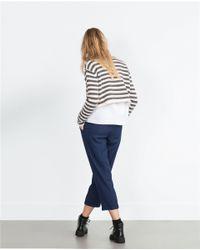 Zara | Blue Loose Fit Trousers | Lyst