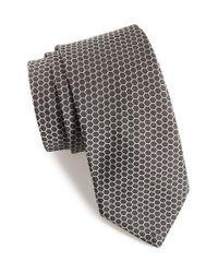 Ted Baker Black Hexagon Silk Tie for men