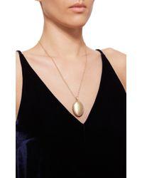 Monica Rich Kosann - Metallic 18k Yellow Gold Satin Finish 4 - Image Oval Locket With Diamonds - Lyst
