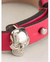 Alexander McQueen | Red Skull Detail Bracelet | Lyst