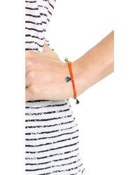 Shashi - Orange Lilu Crystal Bracelet Mint - Lyst