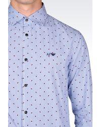 Armani Jeans - Blue Long Sleeve Shirt for Men - Lyst