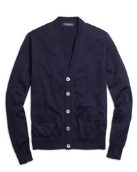 Brooks Brothers | Blue Supima® Cotton Button-front Cardigan for Men | Lyst