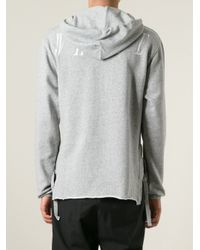 Off-White c/o Virgil Abloh - Gray Deconstructed Sweatshirt for Men - Lyst