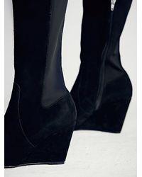 Free People - Black Charles By Charles David Womens Salina Tall Wedge Boot - Lyst