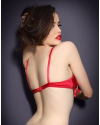 Agent Provocateur Red Birthday Suit Bra