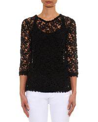 Étoile Isabel Marant - Black Deb Cotton-guipure Lace Top - Lyst