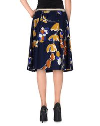 Erika Cavallini Semi Couture - Blue Knee Length Skirt - Lyst